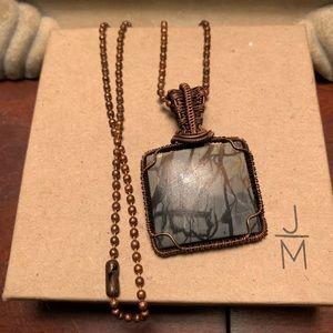 16 in Copper & Stone Pendant🖤